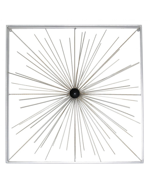 90.2cm Abstract Metal Wall Art Silver