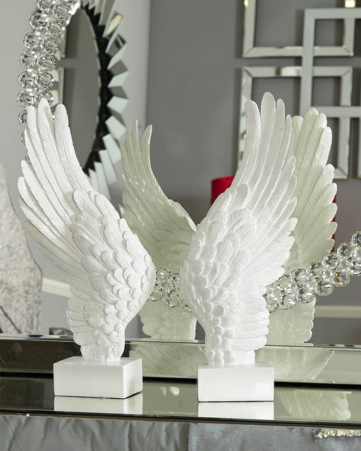 White Left Angel Wing Decor