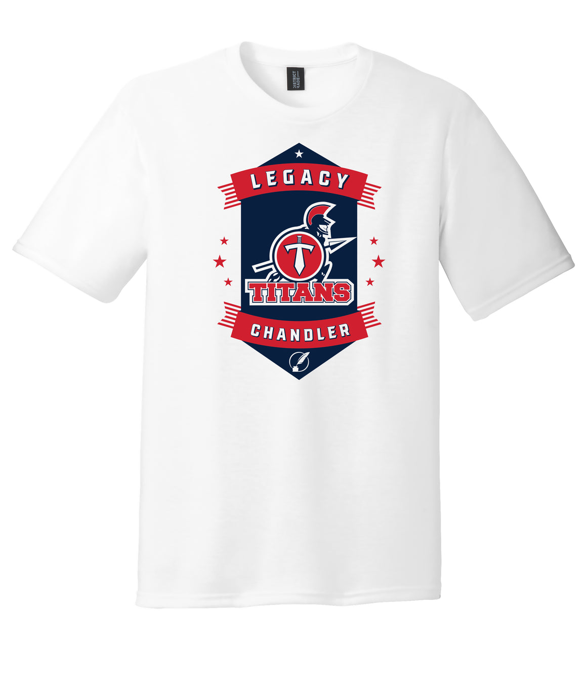 Legacy Traditional School Chandler - White Spirit Day Shirt w/Mascot