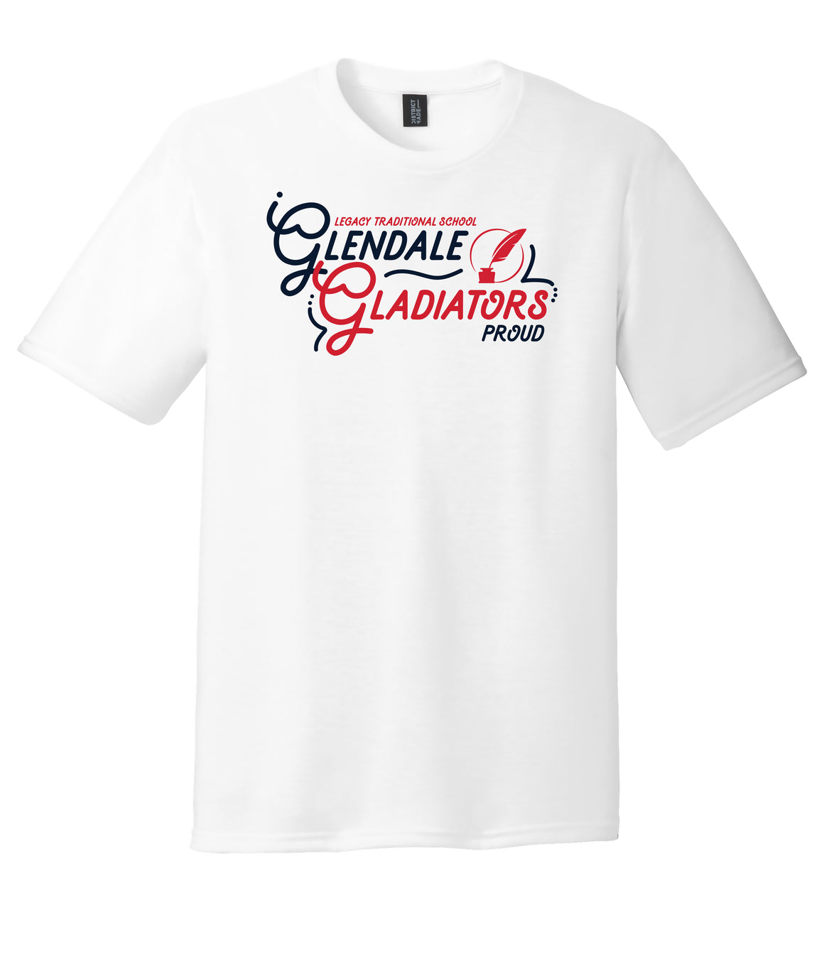 Legacy Traditional School Glendale - White Spirit Day Shirt w/Quill