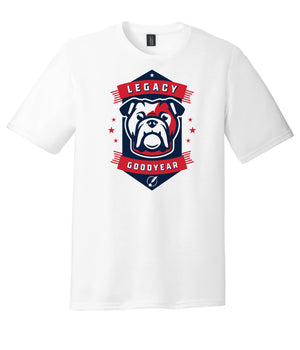 Legacy Traditional School Goodyear - White Spirit Day Shirt w/Mascot