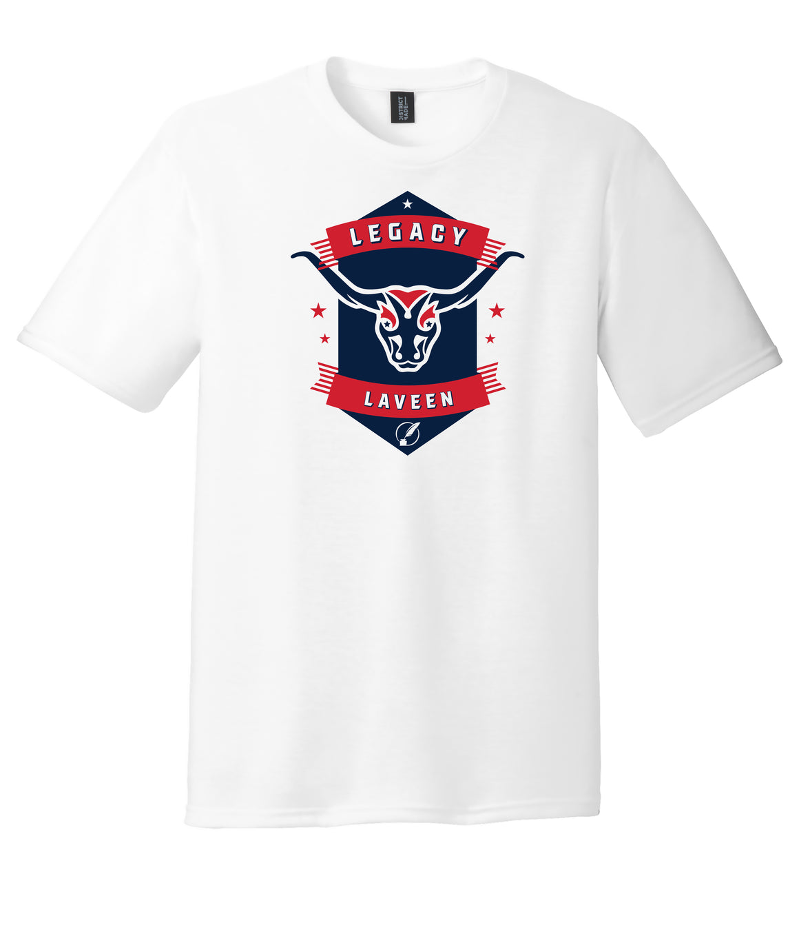 Legacy Traditional School Laveen - White Spirit Day Shirt w/Mascot