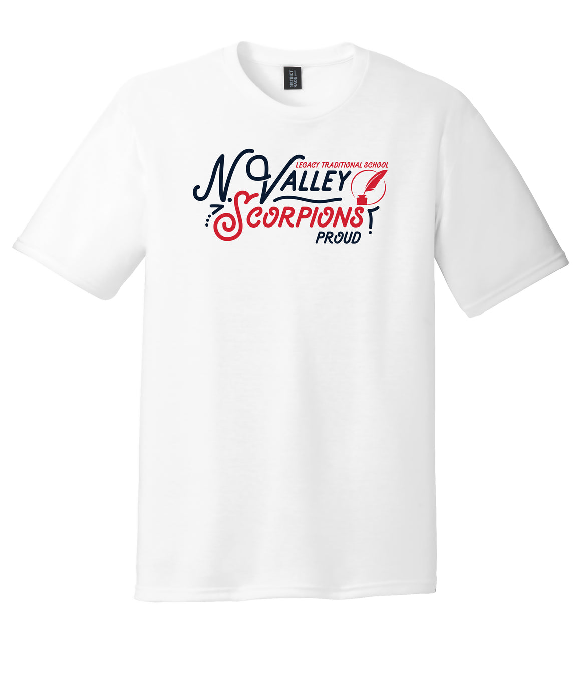 Legacy Traditional School North Valley - White Spirit Day Shirt w/Quill