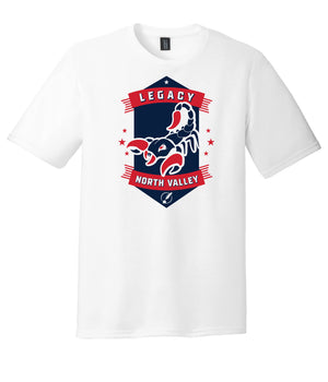 Legacy Traditional School North Valley - White Spirit Day Shirt w/Mascot