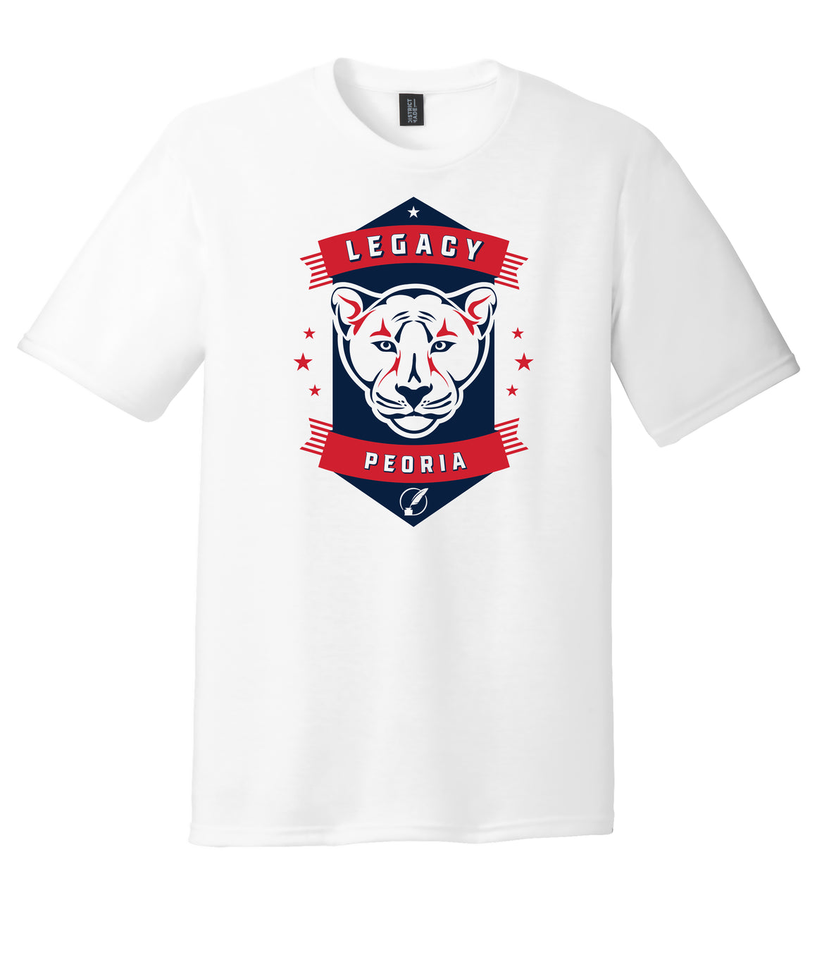Legacy Traditional School Peoria - White Spirit Day Shirt w/Mascot