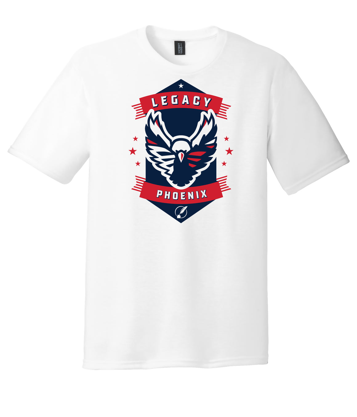 Legacy Traditional School Phoenix - White Spirit Day Shirt w/Mascot