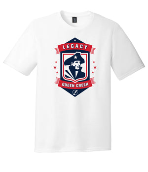 Legacy Traditional School Queen Creek - White Spirit Day Shirt w/Mascot