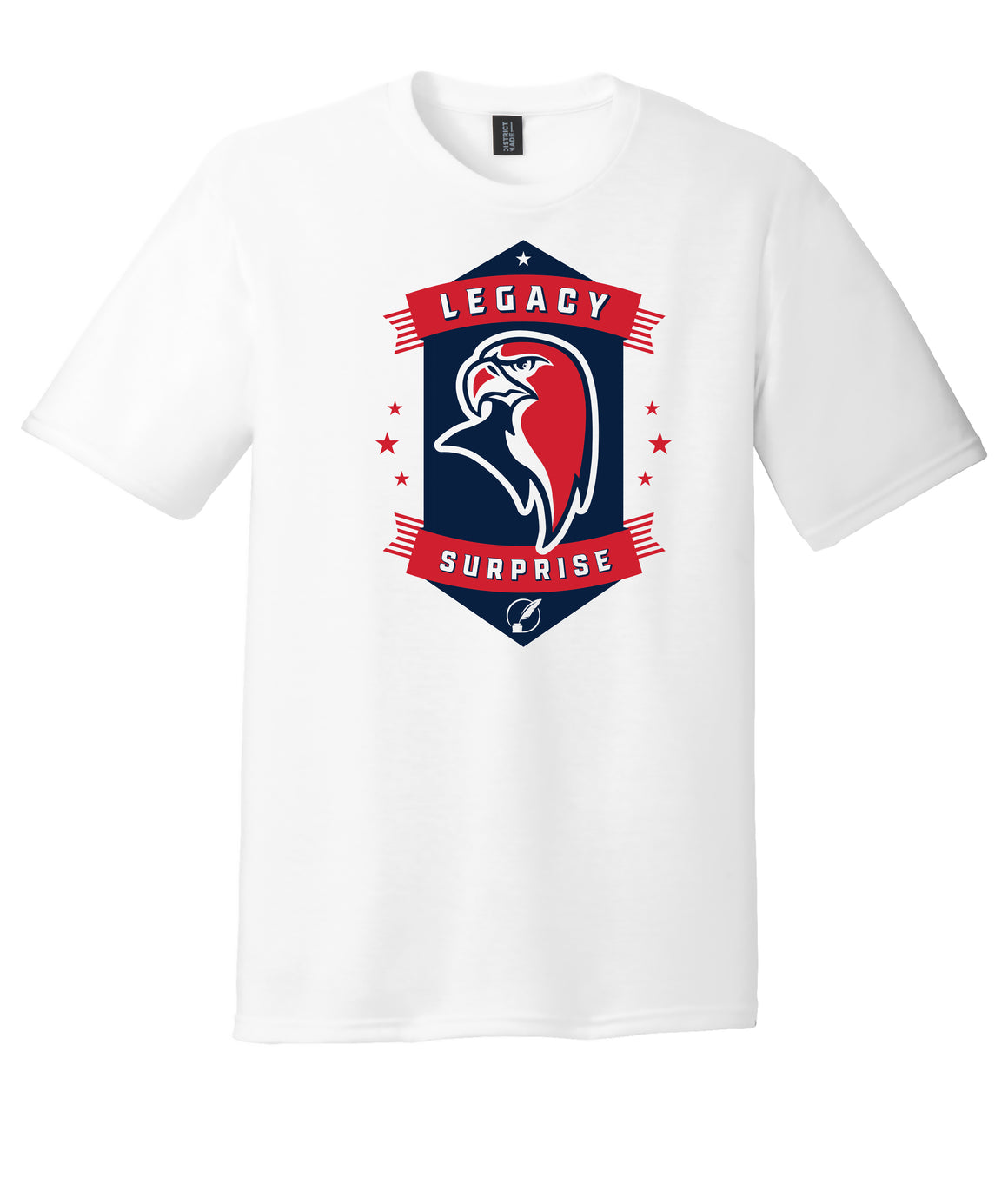 Legacy Traditional School Surprise - White Spirit Day Shirt w/Mascot