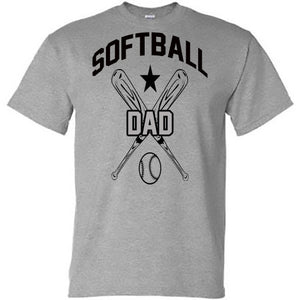 Softball Dad with Crossed Bats