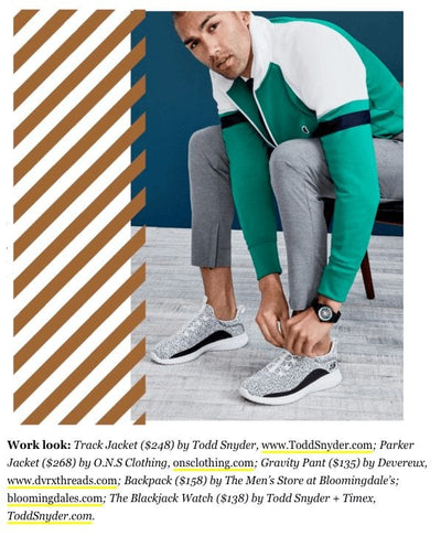 Men's Health Features Devereux's Gravity Pants