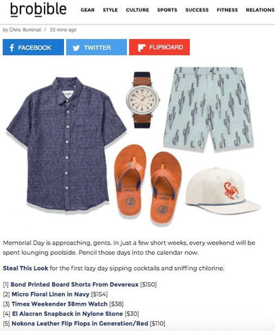 Bro Bible Features Devereux's Bond Board Shorts