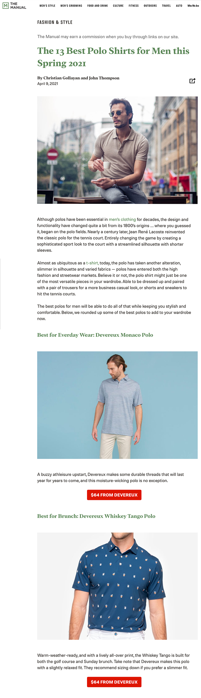 Devereux Golf Best Everyday Polo