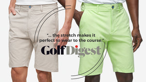 Devereux's Gravity Fabric was featured in Golf Digest, saying it is the perfect golf short to wear to the course.