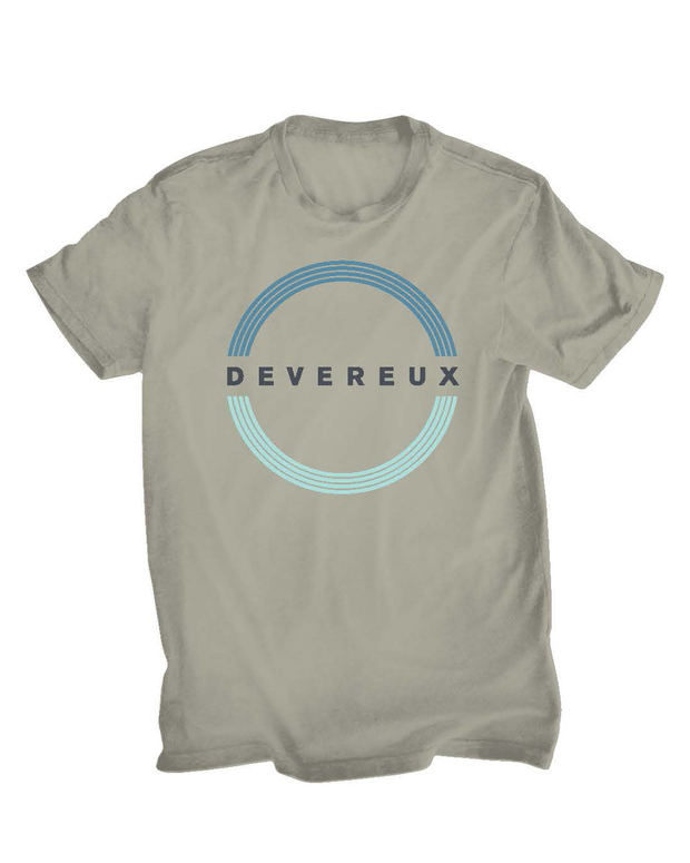 Circle Devereux Graphic TShirt - Heather Stone