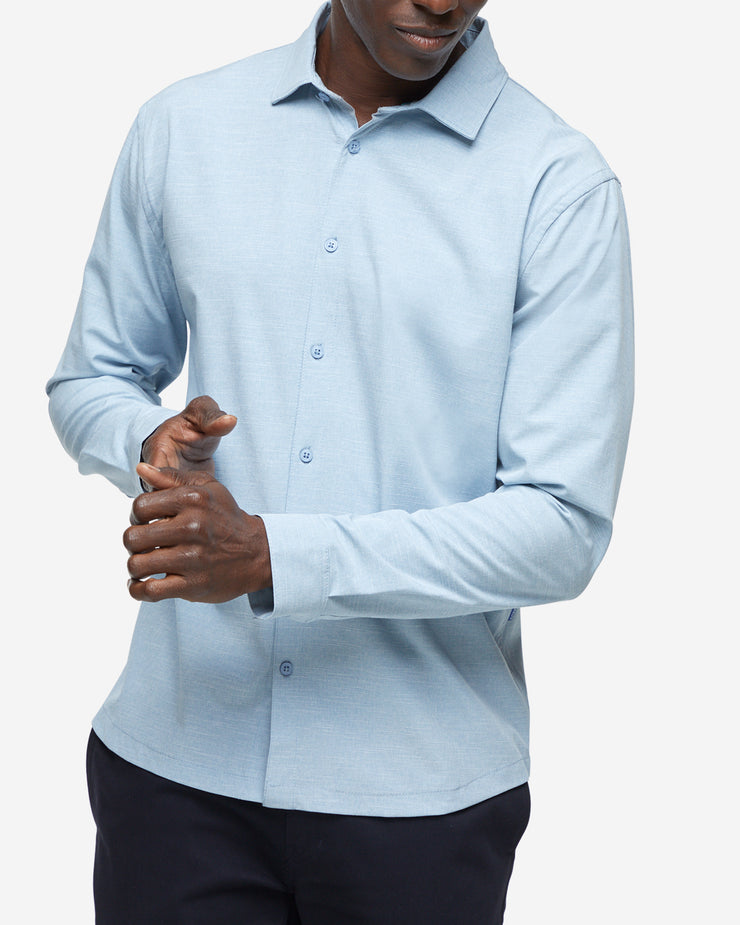 Gravity Long Sleeve Button Down - Light Blue