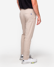 Khaki textured black trouser with zip ankle