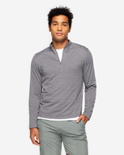 Dark charcoal long sleeve quarter zip pullover