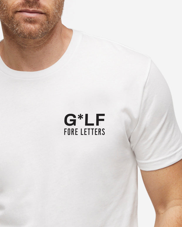 Fore Letter Graphic Tee - White
