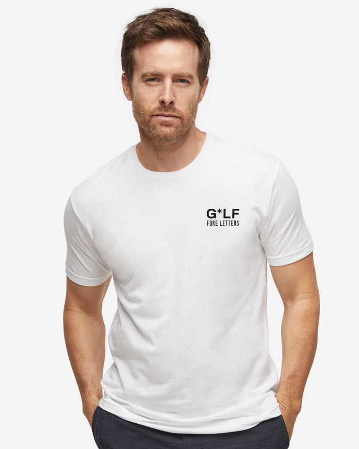 "White cotton crew neck ""G*LF For Letters"" t-shirt"