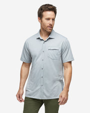 Lay Low Short Sleeve Button Down - Alloy Grey