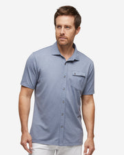 Lay-Low Short Sleeve Button Down - Ocean Navy