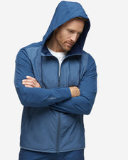 Devereux navy lightweight hooded performance jacket
