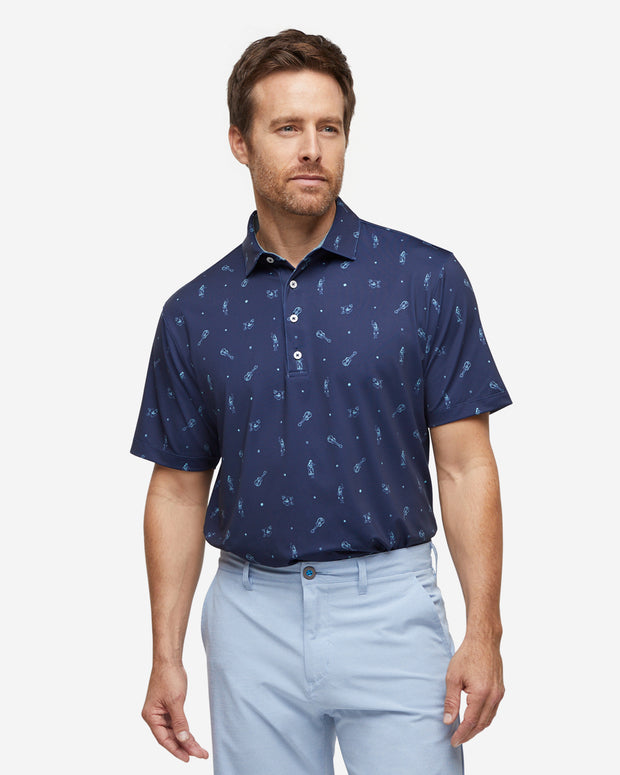 Luau Polo - Navy/Angel Blue