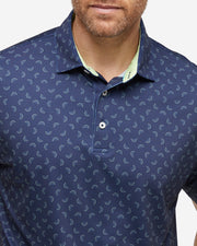 Fresca Polo - Navy/Honeydew