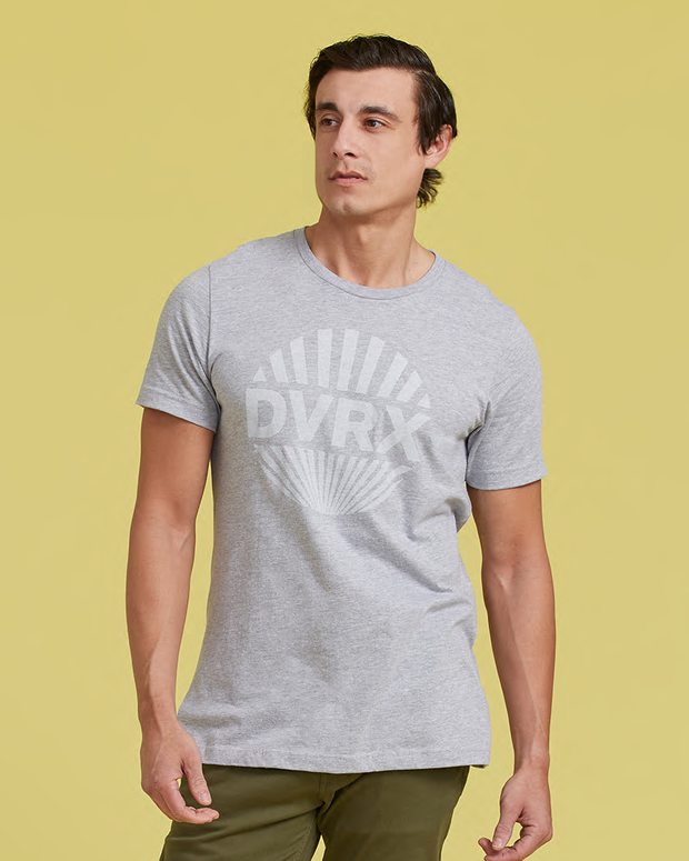 Rising Sun TShirt - Heather Grey