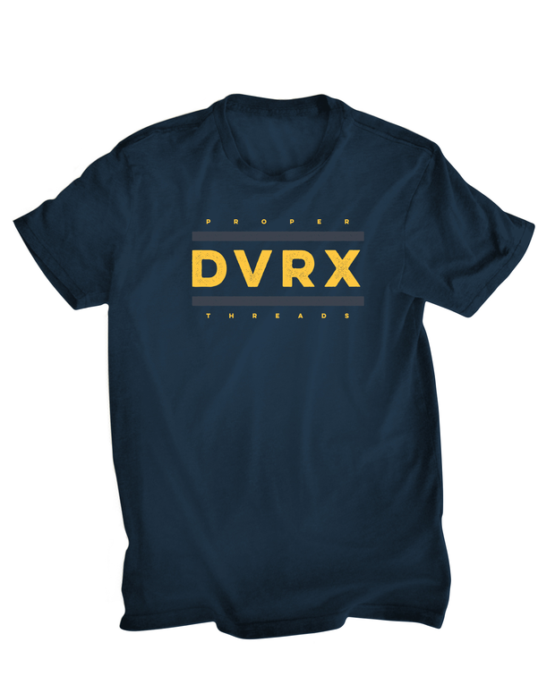 Run DVRX Graphic TShirt - Heather Navy