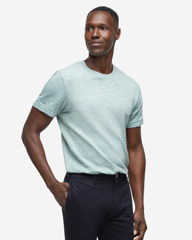 Short Sleeve Slub Crew Neck - Arona Green