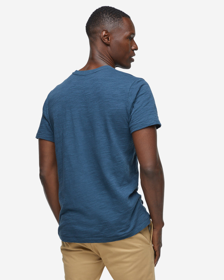 Short Sleeve Slub Crew Neck - Midnight Navy