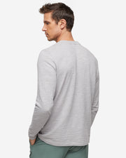Long Sleeve Slub Crew Neck - Alloy Grey