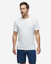 White slub jersey cotton crewneck t-shirt