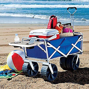Blue Beach Cart Filled