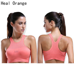 HEAL ORANGE Yoga Shirt Shockproof Yoga Bra Fitness Shirt Women Body Shapers Women Shirt Womens Sportswear Gym Running Wear Women