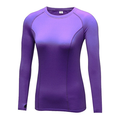 YD Brand Add Wool Yoga Shirt Top Women Winter Elastic Compression Tight Clothing Fitness Gym Sport Running Yoga Shirt Long