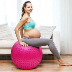 Massage Particles Yoga Ball Touch Sense Training Balls Barbed Pregnant Women Fitness Yoga Ball 55cm Prickly Gym Massage Ball