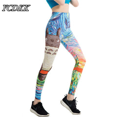 YCDKK Cartoon Print Yoga Pants Women Leggings 3D Printed Eye Legins Gradient Leggins Pencil Pants Legging Tights Women Yoga Pant