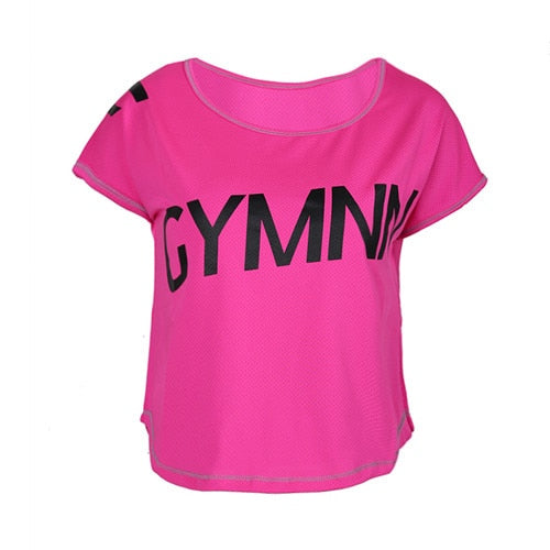 Women Gym T-Shirt Yoga Top Sport T Shirt Quick Dry Fitness sportswear Yoga Shirt Sports Jerseys