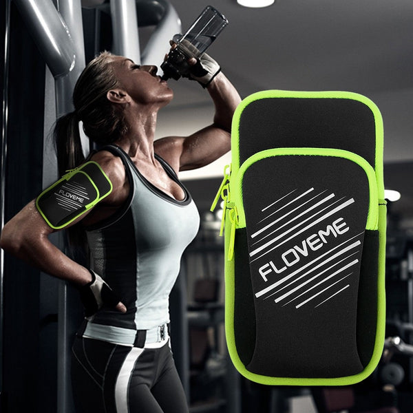 FLOVEME Universal Sport Arm Bag Case For iPhone X 8 7 Plus 6s 6 Plus 5s Running Climbing Pouch Cover For Samsung Huawei Capinhas