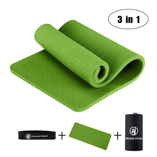 Yoga Knee Pad Pilates Fitness Non Slip Thick 10 mm Mat Knees Wrists and Elbows Pad Exercise Pressure Point Relief Pain