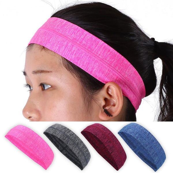 Women Sports Yoga Hair Band Running Jogging Gym Exercise Headband Fitness Breathable Sweat-absorbent Hair Band Headwear