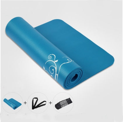 Hot Sale 183*61cm Thickness 10mm New Flowers Printed Yoga Mat Nonslip Beautiful Yoga Mat Thickening Tasteless Yoga Mat
