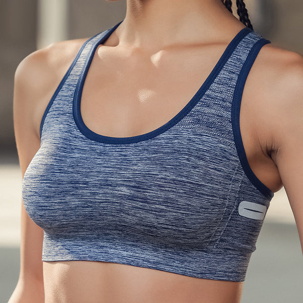 Fitness Yoga Bra Breathable Sports Underwear Gym Running Padded Tank Top Vest Underwear Shockproof Sport Bra Top Girl's Yoga Bra