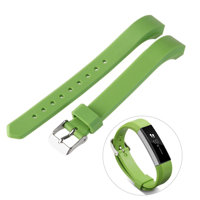 Silicone Band with Watch Buckle for Fitbit Alta Replacement Bands 5.5 - 7.8 Inch Wrist