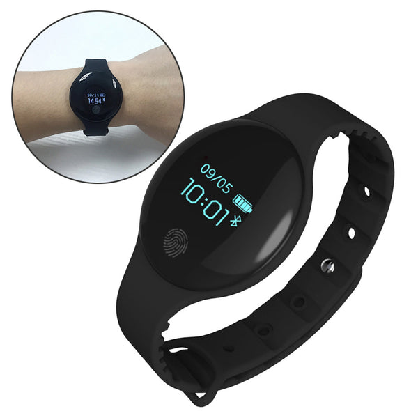 H8 Bluetooth Smart Bracelet Band Sport Fitness Wristband Silicone Pedometer Step Calories Count Sleep Monitor Health Fitness Tracker Children Smart Watch (Black)