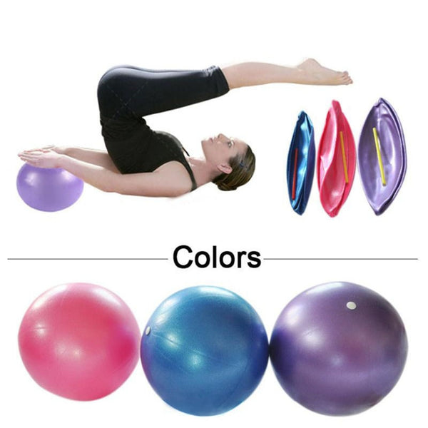 Yoga Ball 25cm Fitness GYM Smooth Yoga Balls Pilates Balance Exercise Gym Fitness Yoga Core Ball Proof Anti-slip Yoga Ball