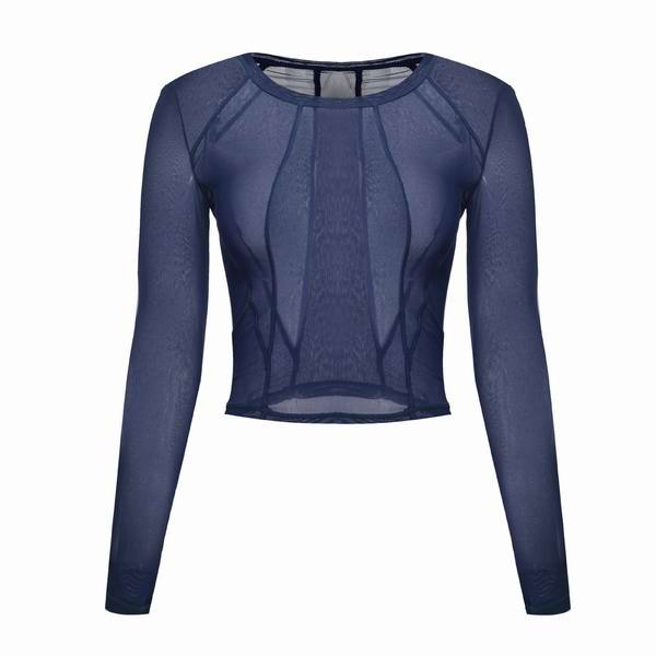 Fitness Shirts for Women Mesh Yoga Top Gym Sport Shirt Sportswear Full Sleeve Sport Top Fitness Women Workout Yoga Shirt Running