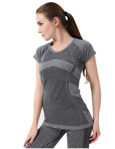 Yoga Top Stretch Yoga Shirt Patchwork Sport Shirt Fitness T Shirt Workout Tops For Women Sports Sweatshirts Running Jersey